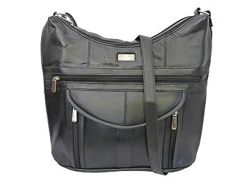 Damen Leder Handtasche aus weichem Schwarzen Leder Schultertasche mit dünnem Riemen </div>                                   </div>         </div>       </div>                                        <div style=