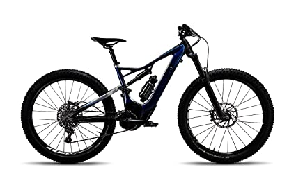 BMW Turbo Levo FSR 6 fattie eléctrico bicicleta marco de aluminio azul bicicleta tamaño XL plata