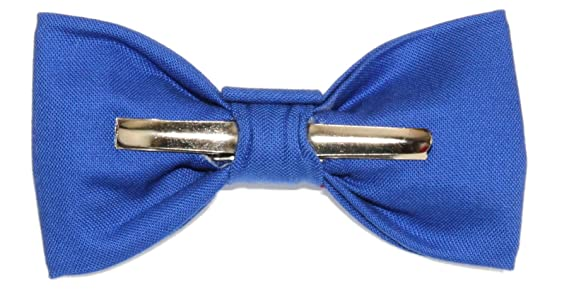 Toddler Boy 3T 4T Ocean Blue Clip On Cotton Bow Tie Made In The USA