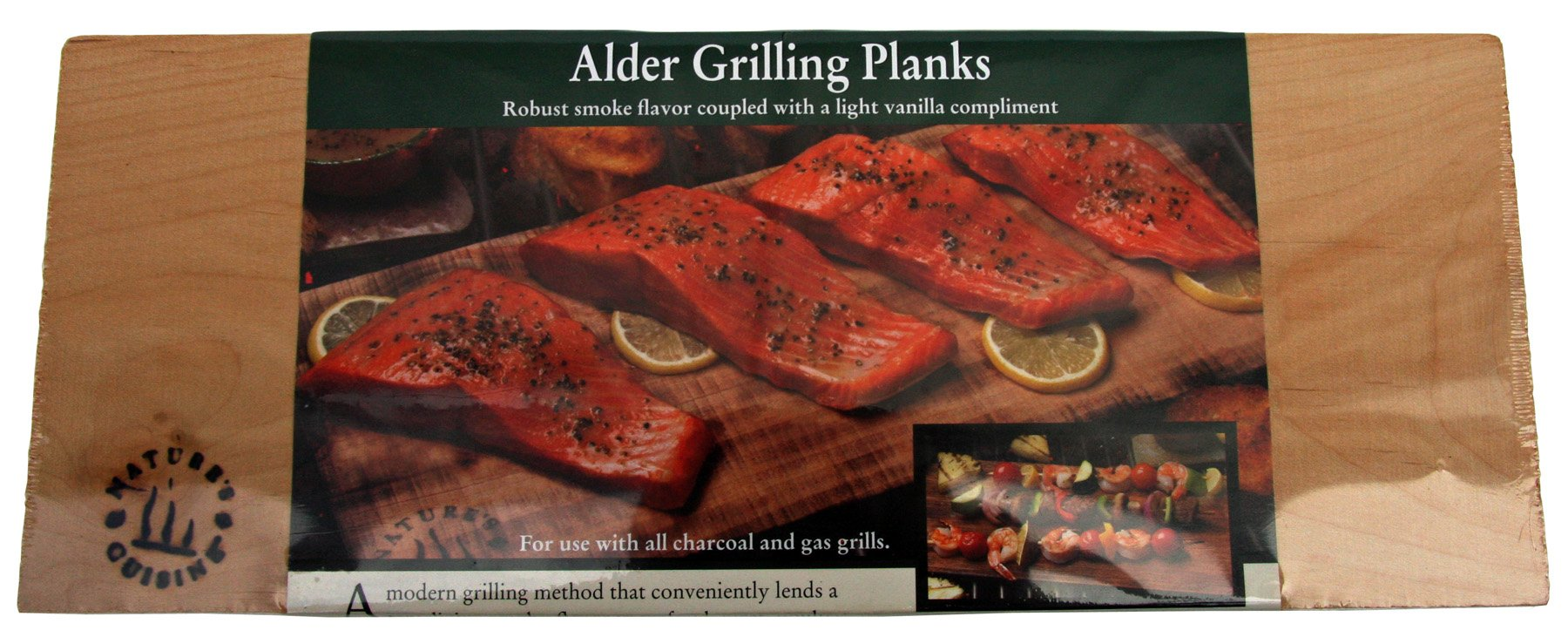 Nature's Cuisine NC005-2 14 by 5-1/2-Inch Alder Outdoor Grilling Plank, 2-Pack