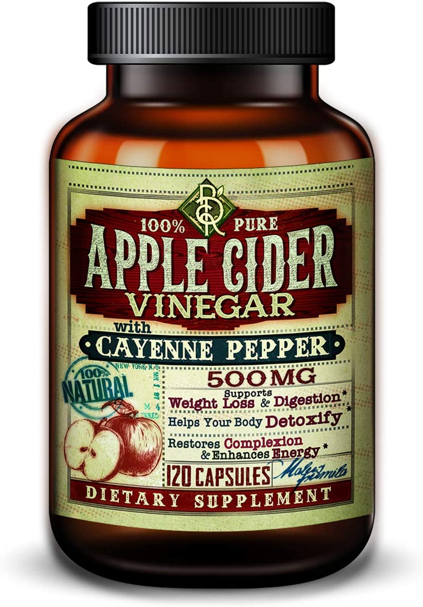 Apple Cider Vinegar w/Cayenne Pepper 100% Pure 500mg | BelaRouche Supplements