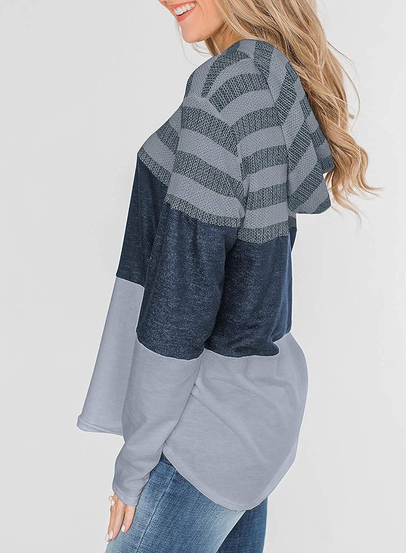 ABRAVO Mujer Sudadera con Capucha Manga Larga Jers/éis Sueltos Sudadera con Estampado la Camiseta Oto/ño Invierno Mujer Ch/ándal