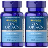 Puritans Pride 2 Pack of Zinc for Acne Puritans Pride Zinc for Acne-100 Tablets