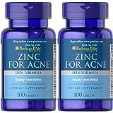 Puritan's Pride 2 Pack of Zinc for Acne Puritan's Pride Zinc for Acne-100 Tablets