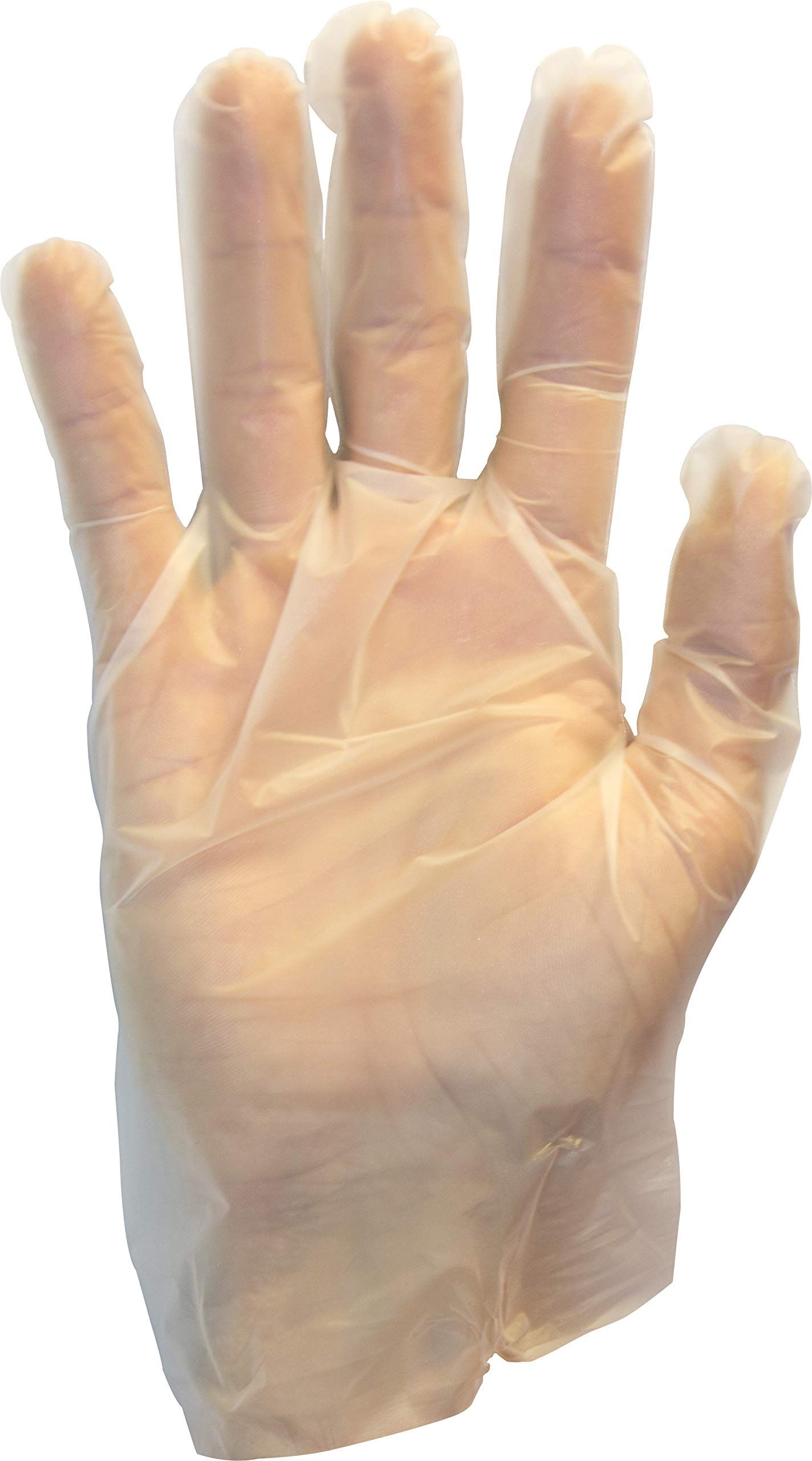 Disposable Clear Poly Hybrid Stretch Gloves, Copolymer Polyethylene PE Blend, Plastic, Powder-Free, Latex and Allergy…