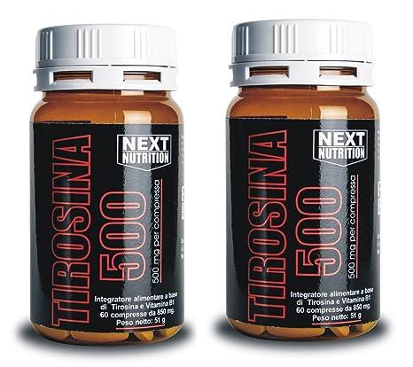 2 PaquetesTirosina 500 mg 60 comprimidos Mejorado con vitamina B1. aumento de la producción de