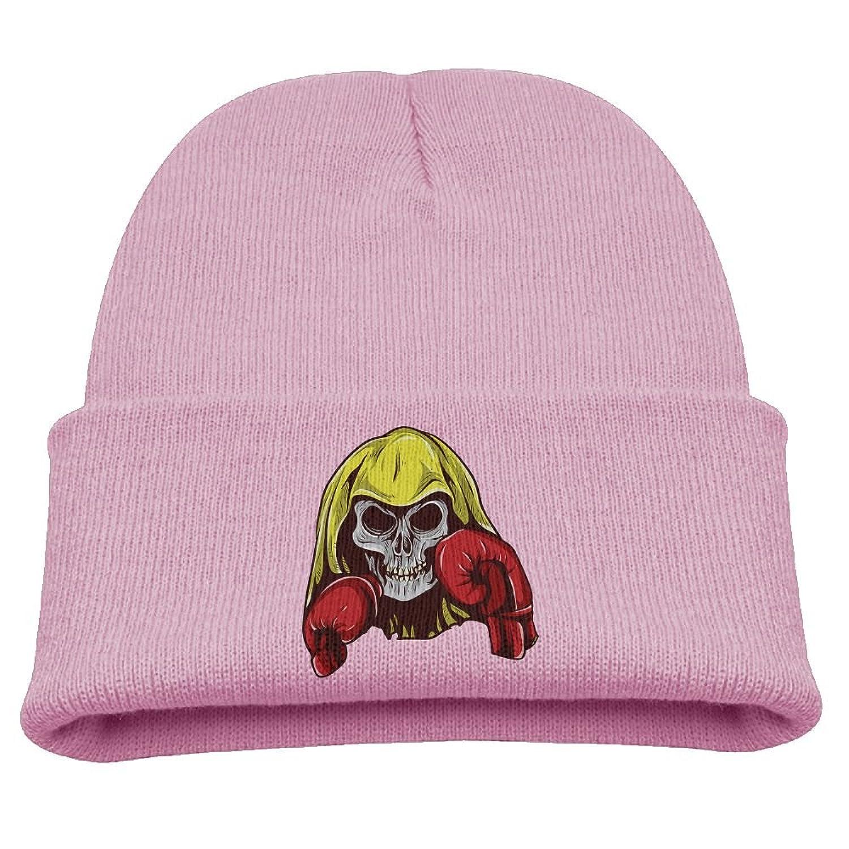hot sell Hfdv Skull Caps Skull Boxing Children Girl Knit Beanie Ski Hat Winter Warm Wool Skull Caps