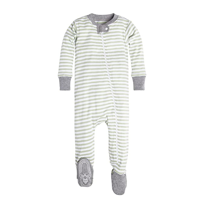 505f8c382 Burt's Bees Baby Unisex-Baby Infant Organic Zip Front Non-Slip Footed  Sleeper Pajamas