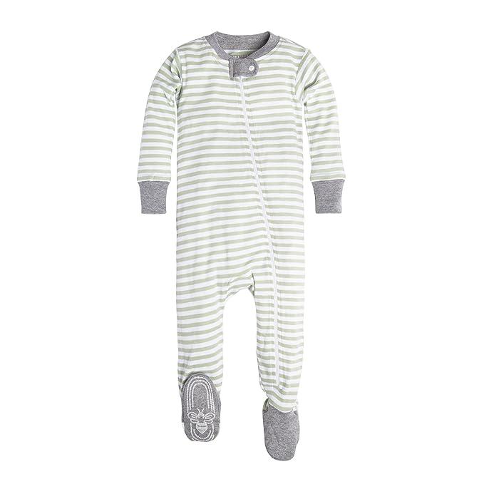 2504e9c73 Burt's Bees Baby Unisex-Baby Infant Organic Zip Front Non-Slip Footed  Sleeper Pajamas