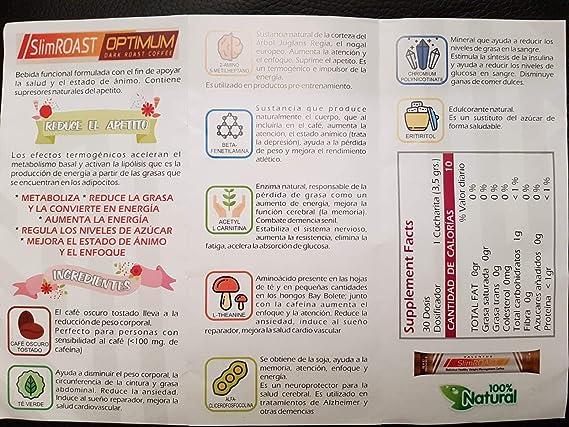Método Valentus PLAN de 6 Días - CAFE Slim Roast Optimum de VALENTUS - Supresor del Apetito - Control y PERDIDA de PESO - Quema Grasas - ACELERADOR del Metabolismo: Amazon.es: Salud y cuidado personal