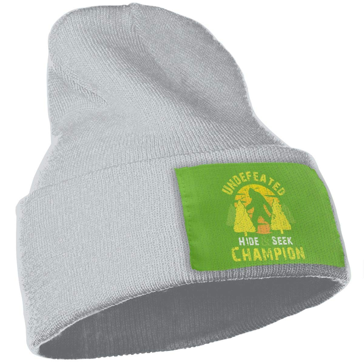 Undefeated Hide and Seek Champion Bigfoot 4 Wool Cap Beanies Cap Unisex Winter Gray