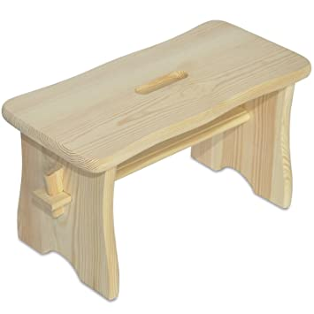 Creative Deco Holz Hocker | 39 x 18 x 21 cm | Tritthocker ...