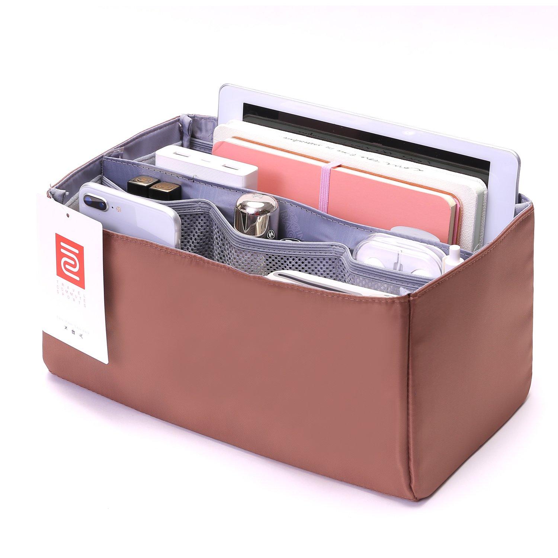 IN Purse Organizer,Handbag Organizer Insert for Speedy 25,30,35 Purse Liner Foldable (Medium, brown) by iN. (Image #4)