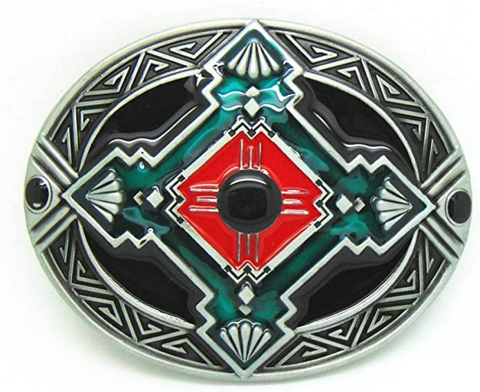 JEANSFRIEND Chief Feather Hebilla del cintur/ón Belt Buckle