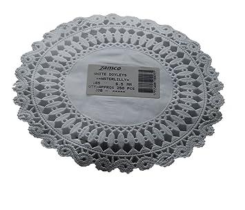 zamco diseño de encaje pequeño papel blanco blondas nenúfares 16,5 cm 250 por paquete