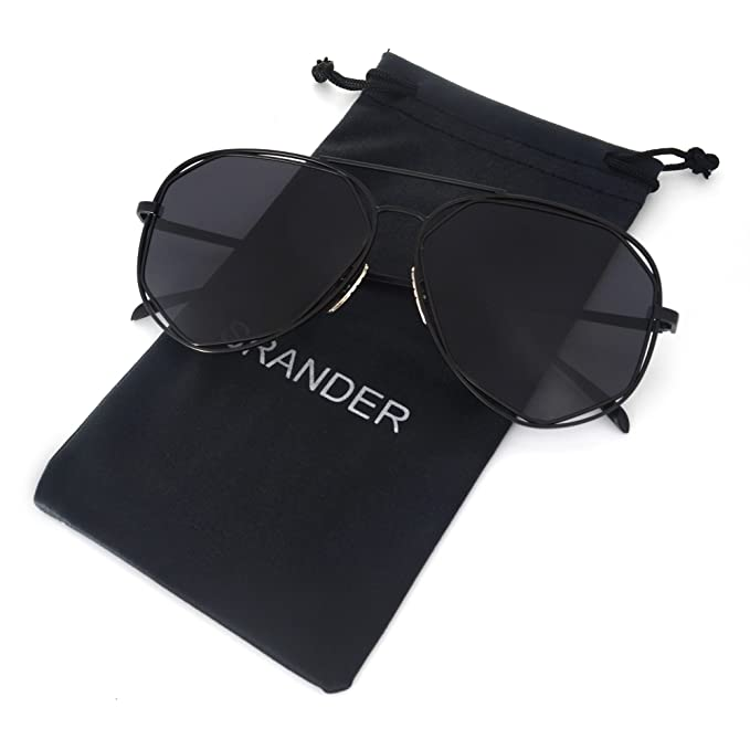 Amazon.com: srander Fashion Marco de metal anteojos de sol ...
