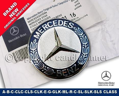 STAR UPGRADE  C E S CLK CLASS MERCEDES BENZ 57MM AMG SPORT BONNET BADGE EMBLEM