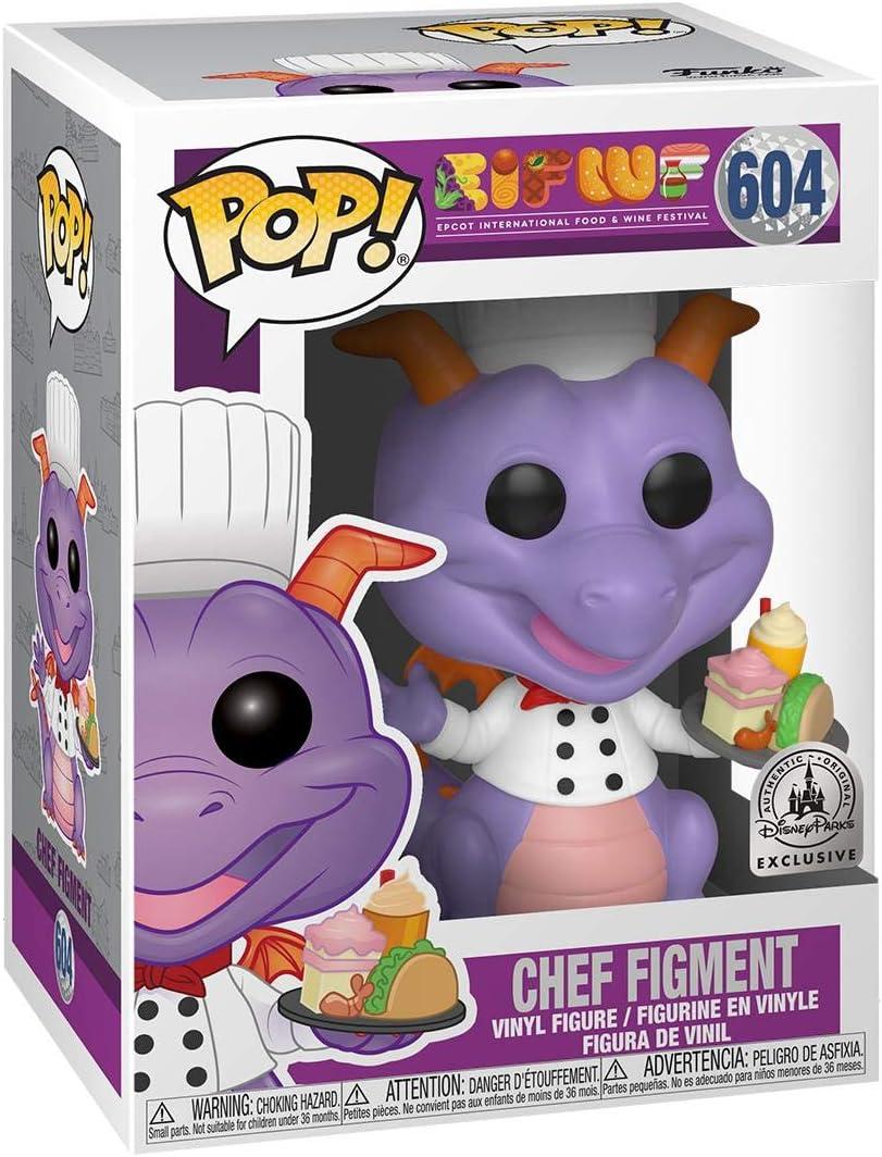 Disney Parks Exclusive Pop! Chef Figment 604 Epcot Food & Wine Festival