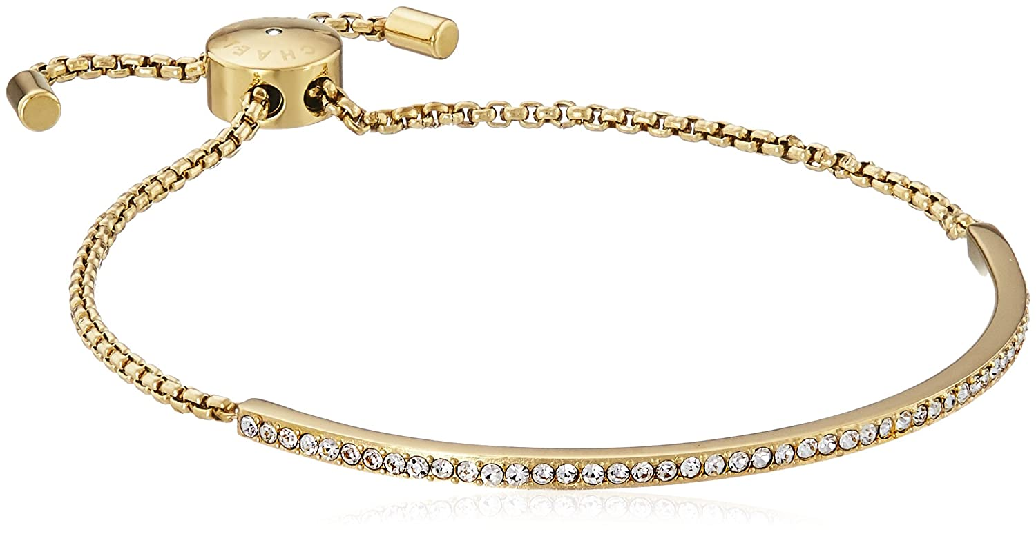 Amazoncom Michael Kors Pave Bar Slider Gold Bracelet Jewelry