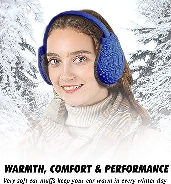 NIANPU Herren warm earmuffs ohrenw/ärmer faltbare fleece winter outdoor earmuffs