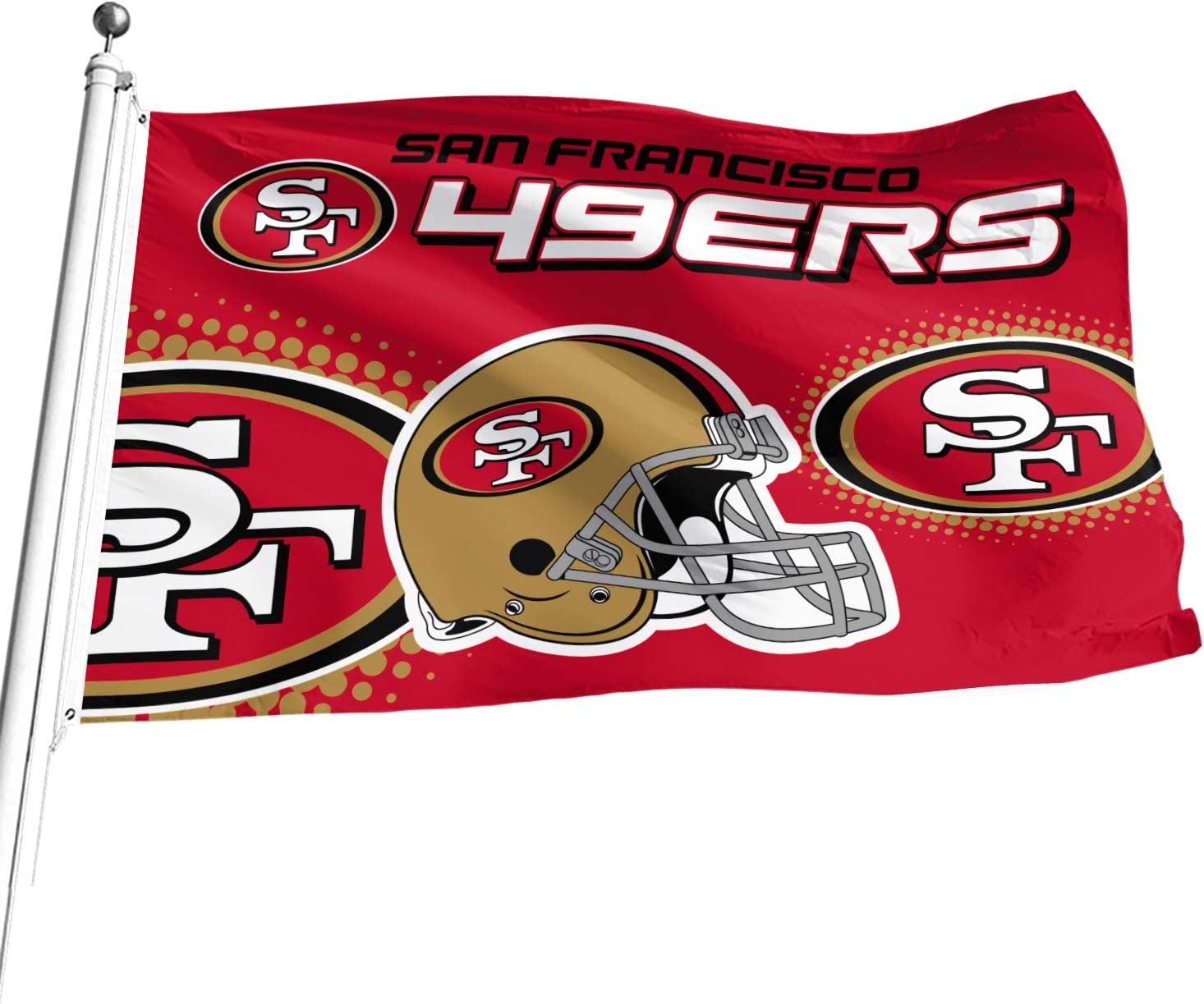 NFL 3-Foot by 5-Foot Double Sided Banner Flag with Grommets