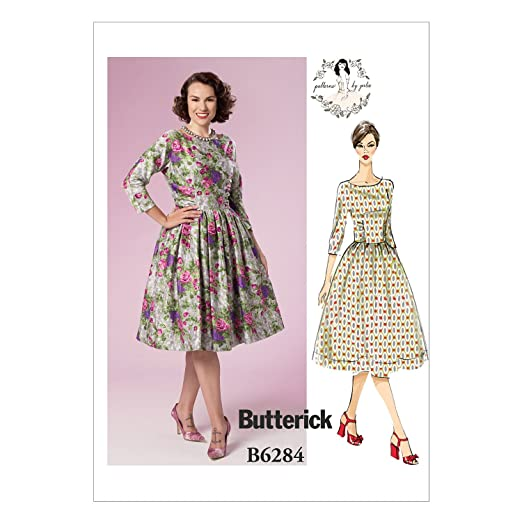 1950s Sewing Patterns | Swing and Wiggle Dresses, Skirts Gathered Dresses by Patterns by Gertie A5 (6-8-10-12-14) $8.85 AT vintagedancer.com