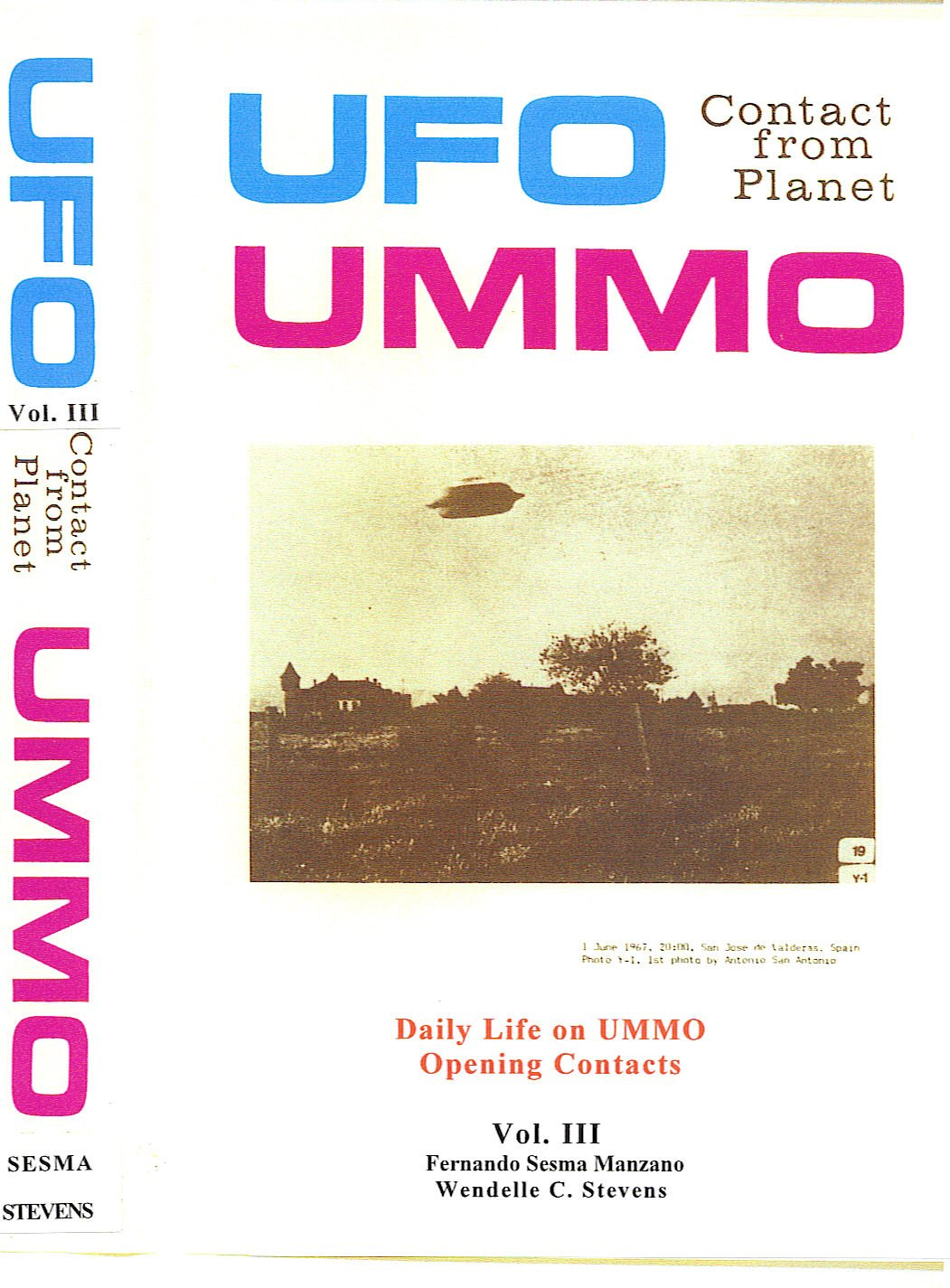 UFO CONTACT FROM PLANET UMMO Vol 1 eBook: Wendelle Stevens