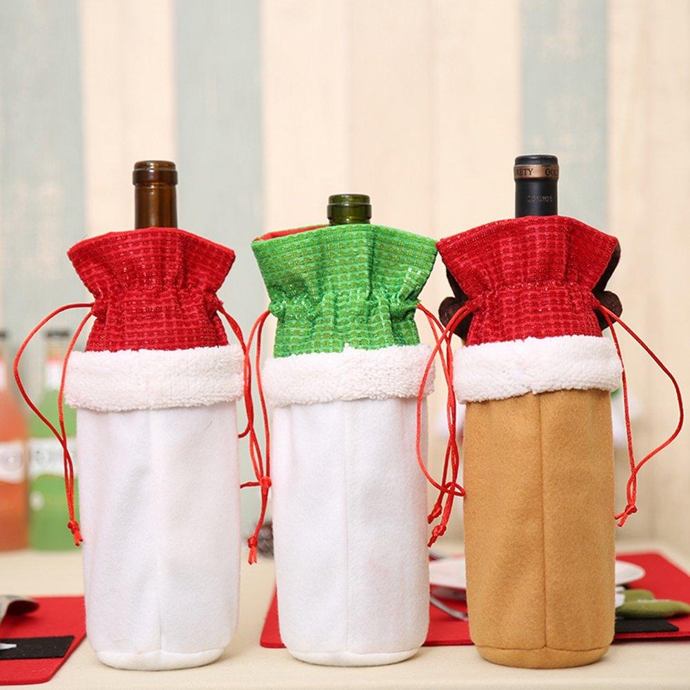 blaward muñeco de nieve Elk y Santa Claus para botella de vino ...