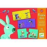 Djeco / 12 Duo Puzzles - Animals and Opposites