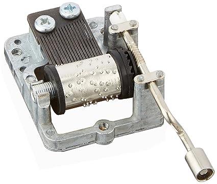 Laxury 18 Note mano Cranked Musical Mecanismo DIY Caja de música movimiento Canciones Diferentes Disponibles,