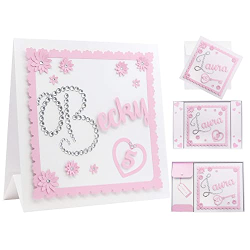 1st Birthday Card For Girls Personalised Luxury Diamante 16th 21st Any Age Daughter
