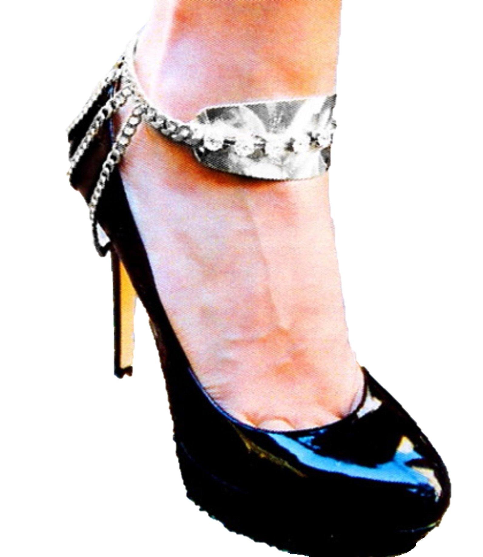 Shoe Chain - Anklet / AZFJBT017-SIL