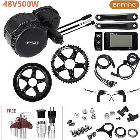 48 V500 W Bafang mediados unidad bicicleta eléctrica Kit de ...