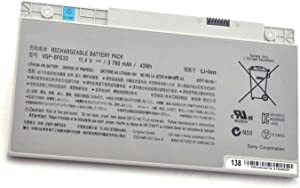 Fully VGP-BPS33 Replacement Battery Compatible with Sony VAIO SVT-14 SVT-15 T14 T15 T14118CC Vaio SVT14126CXS, Vaio SVT14127CH, Vaio SVT141290X, Vaio SVT141A11L Ultrabook
