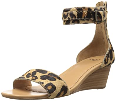 UGG Women's Char Wedge Sandal, Chestnut Leopard, ...