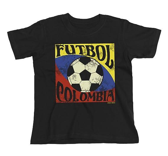 Buzz Shirts Niños O Niñas Camiseta Futbol Colombia Copa Mundial 2018 Fútbol Kids Patriotic Copa America