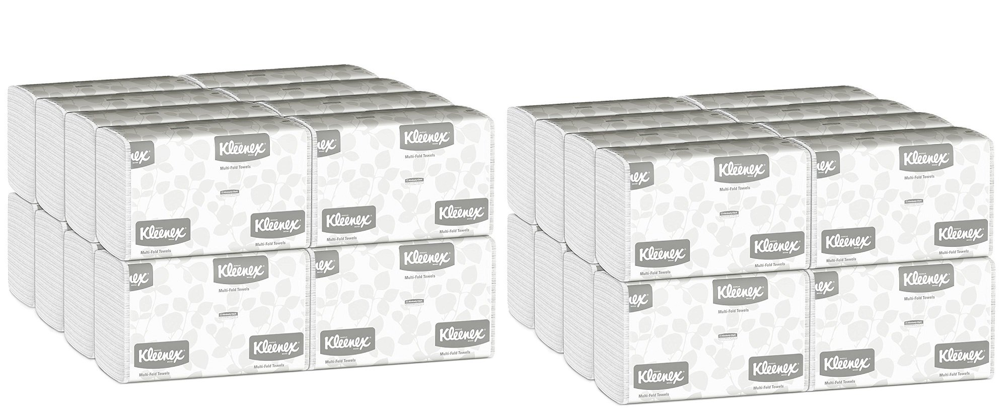 Kleenex Multifold Paper Towels (01890), White, Case of 32 Packs DKrvTW, 150 Tri Fold Paper Towels per Pack