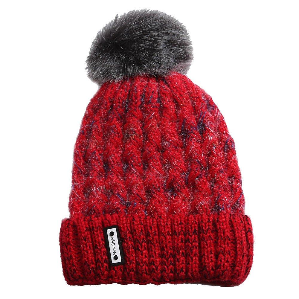 b4aa7cff9c64 TWGONE Knit Caps for Women Wool Cosy Warm Beanie Winter Hat Ski ...