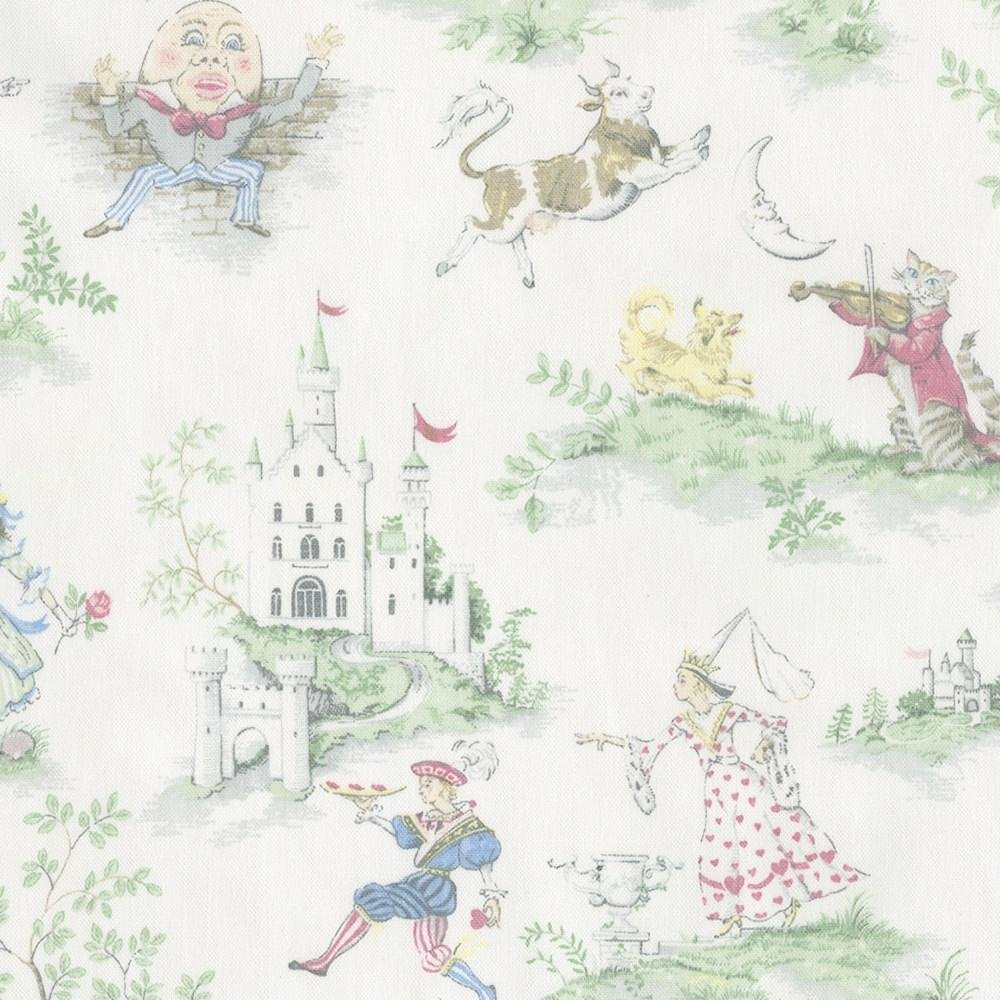 Carousel Designs Nursery Rhyme Toile and Pink Circles Drape Panel 84-Inch Tall by 42-Inch Wide with Trim and Blackout Liner