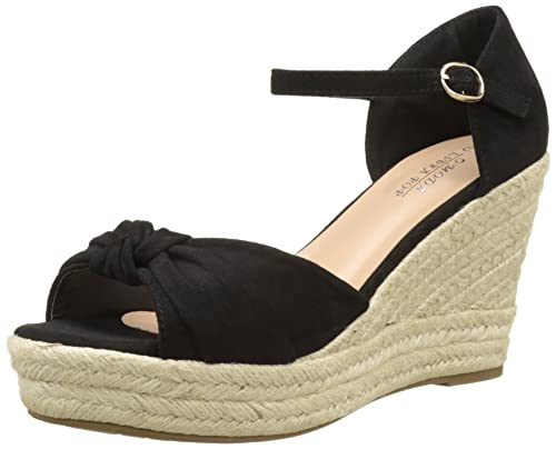 Mujer Cm Y 3 De Negra Cuña 10 Plataforma 5 Zapatillas Tacón T5YwXx
