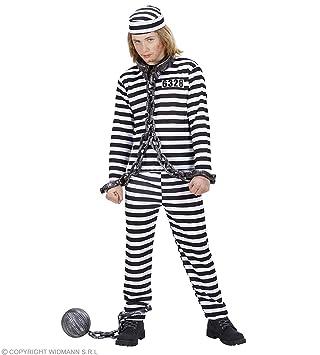WIDMANN wdm72938 ? Disfraz para niños carcerato blanco y negro ...