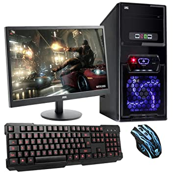 home office gaming computer. fierce ultra fast desktop, office, home, family, gaming pc computer bundle, home office b