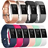 Tobfit Fitbit Charge 2 Bracelet Sangle Réglables Sport Accessorie Replacement Band pour Fitbit Charge 2 Fitness Wristband