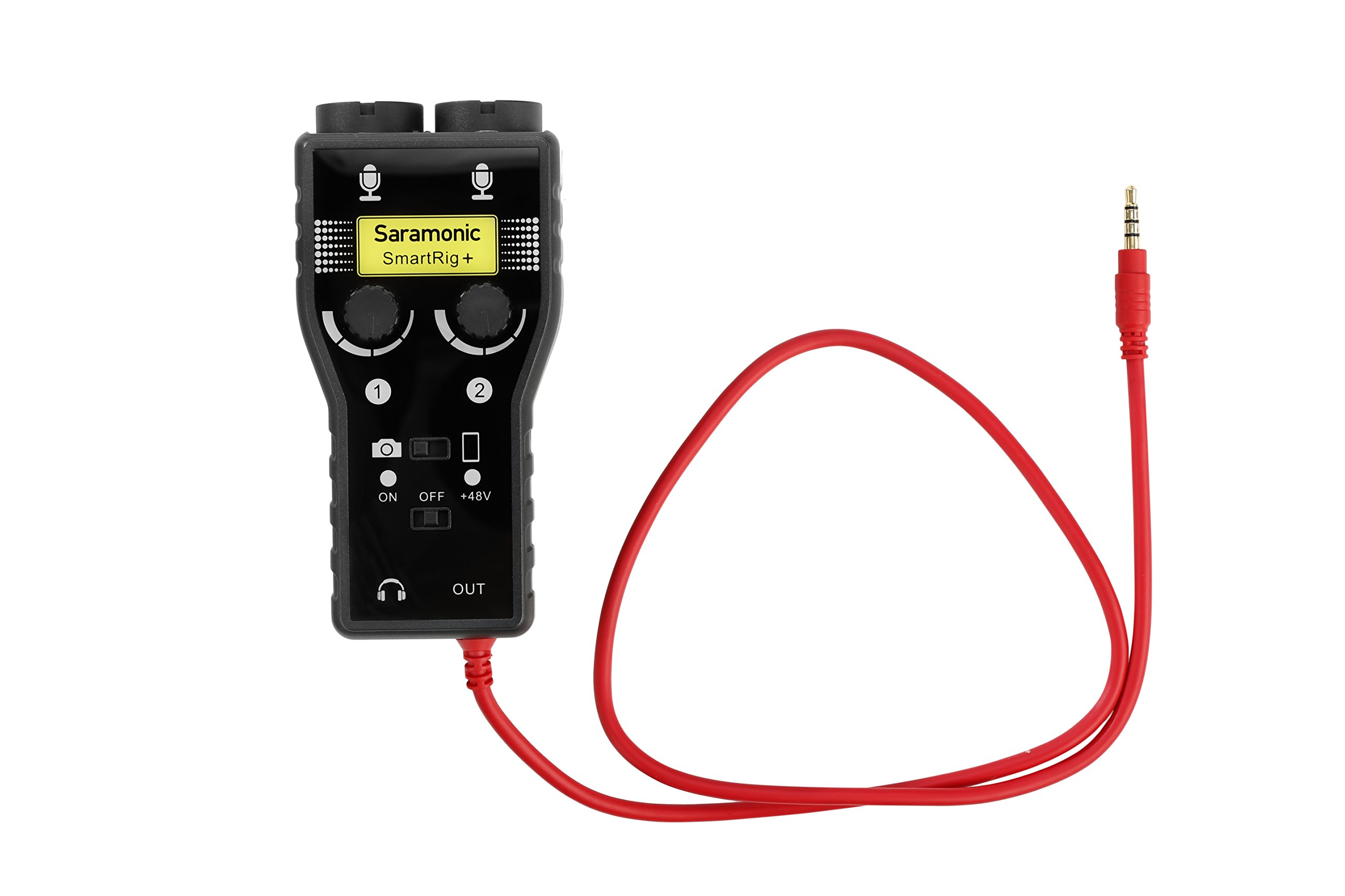 Saramonic SmartRig+ 2-Channel XLR, 3.5mm Microphone Audio Mixer with Phantom Power Preamp and Guitar Interface for DSLR Cameras, Camcorders, iPhone, iPad, iPod, and Android Smartphones