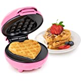 Amazon Com Heart Waffle Maker Non Stick Waffle Griddle Iron With Browning Control 5 Heart Shaped Waffles Electric Waffle Irons Kitchen Dining