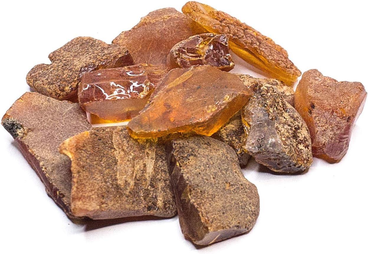 Piedras de ámbar crudo por la cultura ámbar – Tamaño 0,03 – 0,09 Ounce, resina de ámbar báltico, original y natural aleatorio Lot (tamaño 0,03 – 0,09 Cantidad: 0,88)