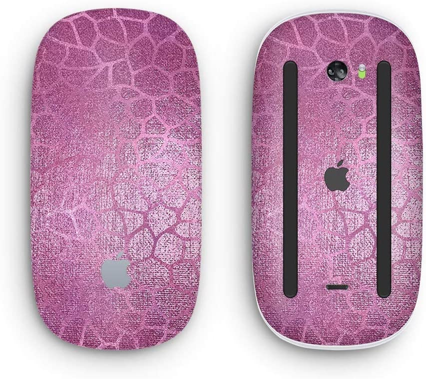Design Skinz Premium Vinyl Decal for The Apple Magic Mouse 2 Glamorous Pink Scales with Multi-Touch Surface Wireless, Rechargable