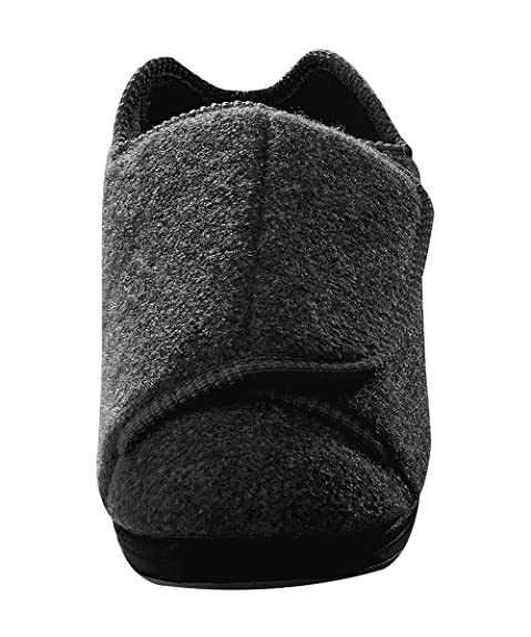 d4854d9e0480 Mens Extra Extra Wide Slippers - Swollen Feet - Diabetic - Black 7. Roll  over image to zoom in. Silverts Disabled Elderly Needs
