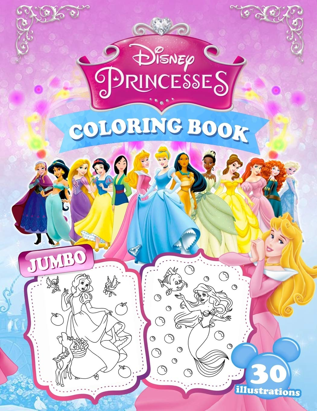 Princesses Coloring Book: Jumbo Princess Coloring Book For Kids