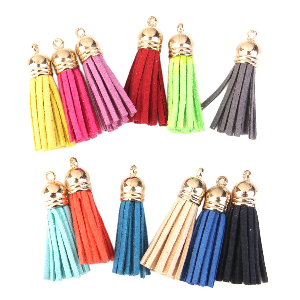 12Pcs Colorful Tassel Charms Pendants for Bags Key Chains DIY 4.3cm Generic AEQW-WER-AW126882